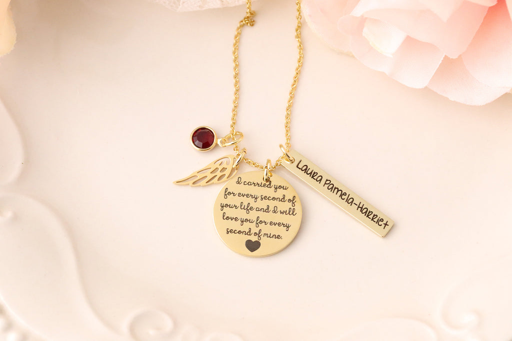 Miscarriage Memorial Necklace - Remembrance Jewelry - Mommy of an Angel - Loss of children memorial -  Loss of Pregnancy Gift - Condolences