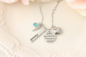 Cremation Memorial Necklace - Memorial Urn Necklace - Personalized Urn Necklace - Urn Jewelry - Cremation & Memorial Jewelry