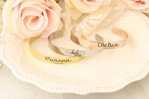 Personalized Maid of Honor Gift - Personalized Bridesmaid Gift - Bracelets for Bridal Party - Personalized Bridesmaid Bracelet - Bride Tribe