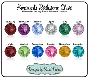 Swarovski birthstone crystal - swarovski birthstone charm - Rose Gold Birthstone Charm - Gold Birthstone Charm - Add on Birthstone Crystal
