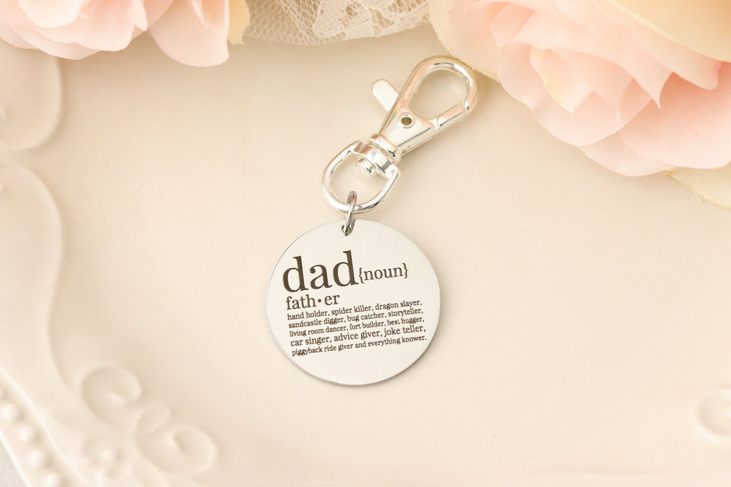 Fathers Day Gift for Dad Keychain - Keychain for Dad - Dad Definition Keychain - Personalized Keychain for Dad - Dad Dictionary keychain