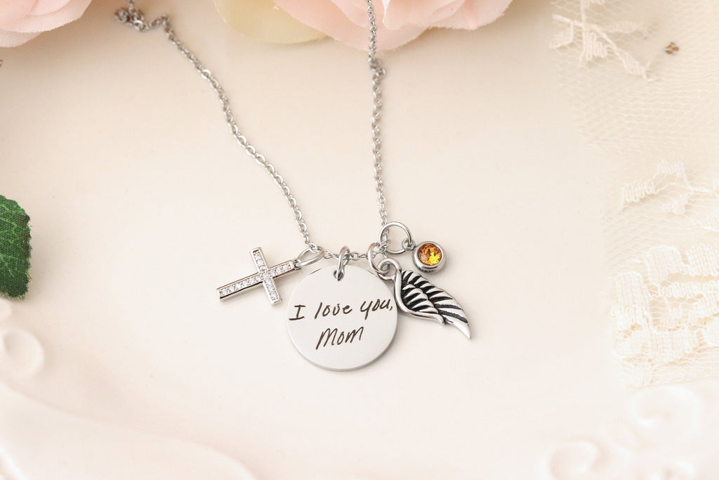 Handwriting Keepsake Necklace - Handwriting Memorial - Handwriting Keepsake Jewelry  Actual Handwriting Necklace  Custom Handwriting Jewelry