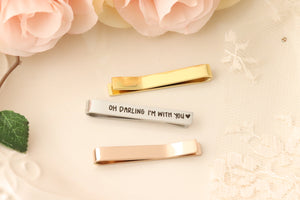 Actual Handwriting Tie Bar - Personalized Tie Bar - Personalized Tie Clip -  Wedding Gift for Husband - Personalized Gift for Dad