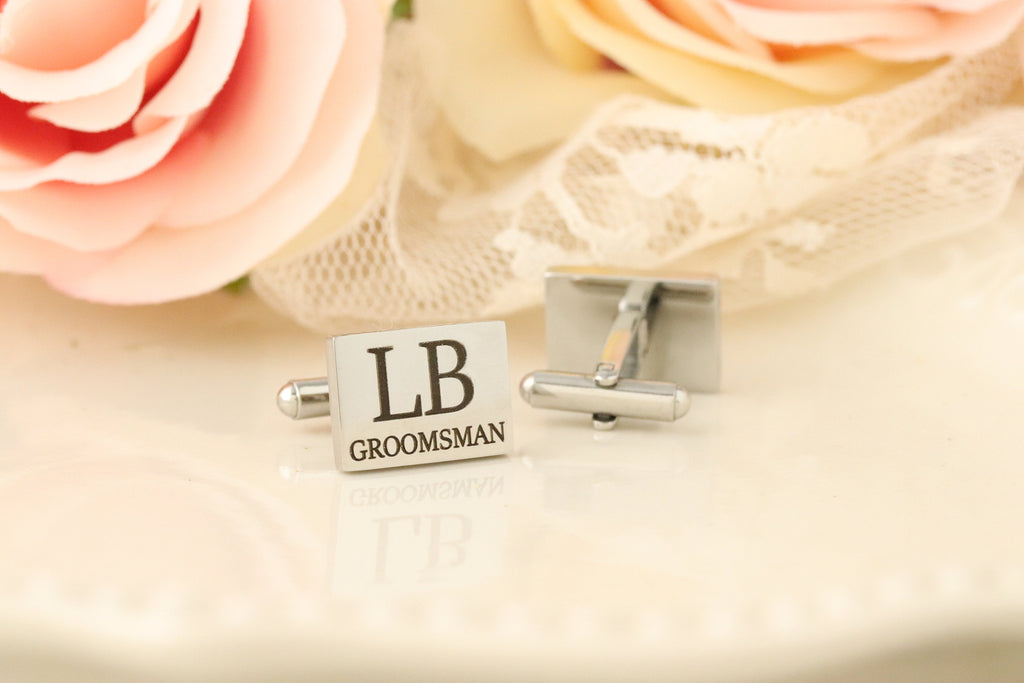 Cufflinks for Groomsman - Cufflinks for Best Man - Bridal Party Cufflinks - Wedding Cufflinks - Cufflinks for Men - Gift For Groomsmen