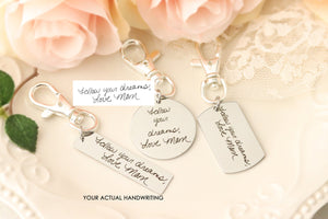 Handwriting Keepsake Keychain - Actual Handwriting Keychain - Custom Handwriting Jewelry - Handwriting Memorial Keychain - Handwriting Gift