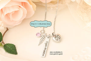 Miscarriage Memorial Gift - Remembrance Jewelry for Child - Miscarriage Memorial Necklace - Loss of Pregnancy Gift - Condolences for Child