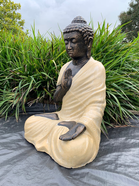 Serene Protection Buddha-White