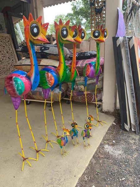 Rainbow Metal Ostriches X-Large