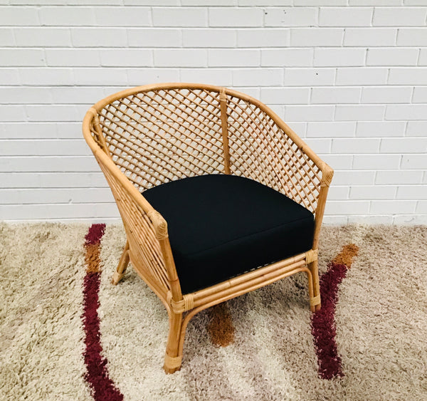 Balinese Rattan Lattice Arm Chair