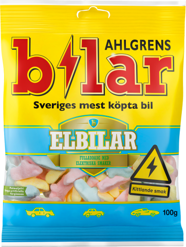 Ahlgrens Bilar Electric Candy Cars, 100g