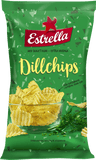 Estrella Dill Potato Chips, 175g - Case of 21