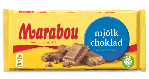 Marabou Milk Chocolate Bars, 100g
