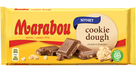 Marabou Cookie Dough Chocolate Bar, 185g