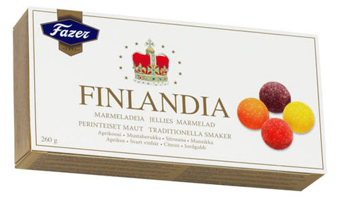 Case of Fazer Finlandia Fruit Jellies 260g
