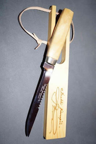 Fish Knife with Wooden Sheath