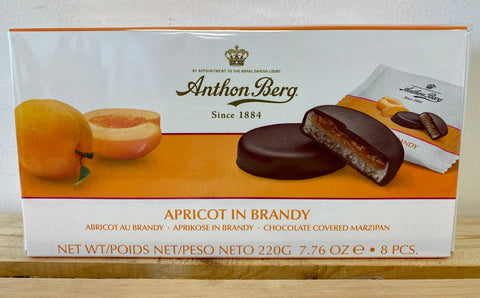 Anthon Berg Chocolate Covered Marzipan with Apricot in Brandy, 220g