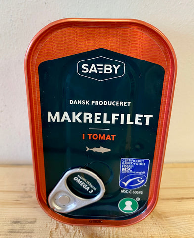 Saeby Mackerel Fillets in Tomato, 125g