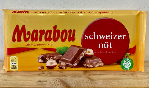 Marabou Hazelnut Chocolate Bar,  200g - Case of 16