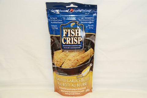 Case of Rocky Madsen's Fish Crisp Roasted Garlic & Butter
