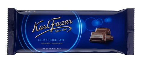Fazer Blue Milk Chocolate Bar, 100g - Case of 20