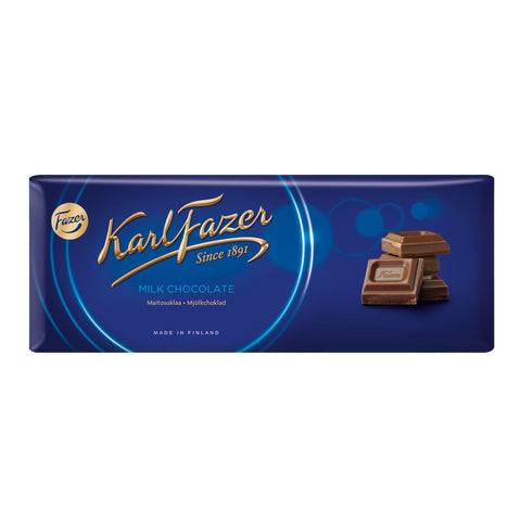 Fazer Blue Milk Chocolate Bar, 200g - Case of 22