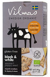 Vilmas Gluten-Free Vegan Black & White Sesame+Poppy Seed Organic Crackers, 90g - Case of 10