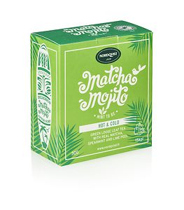 Nordqvist Hot & Cold Matcha Mojito Green Tea, 15 x 2g
