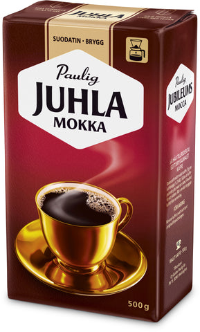 Case of Paulig Juhla Mokka Coffee Fine Grind 500g