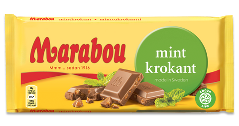 Marabou Mint Chocolate Bar 200g