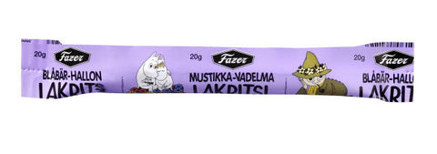 Fazer Moomin Blueberry/Raspberry Yogurt Filled Licorice Stick