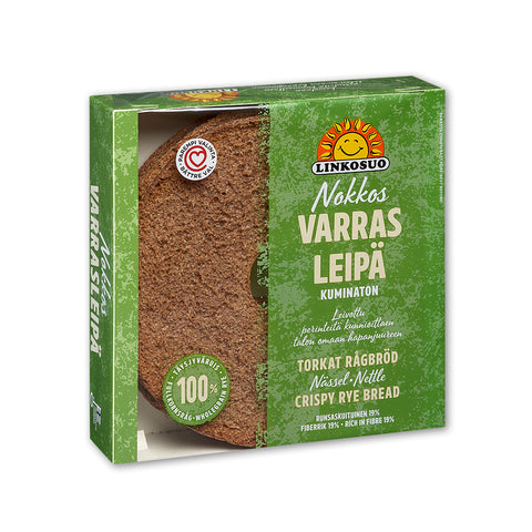 Linkosuo Varras Nettle Rye Crispbread, 500g - Case of 6