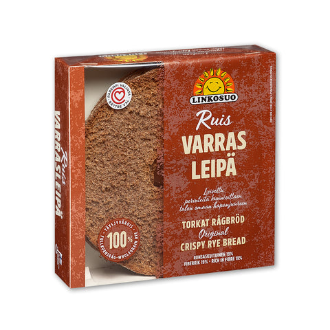 Linkosuo Varras Rye Crispbread, 500g - Case of 6
