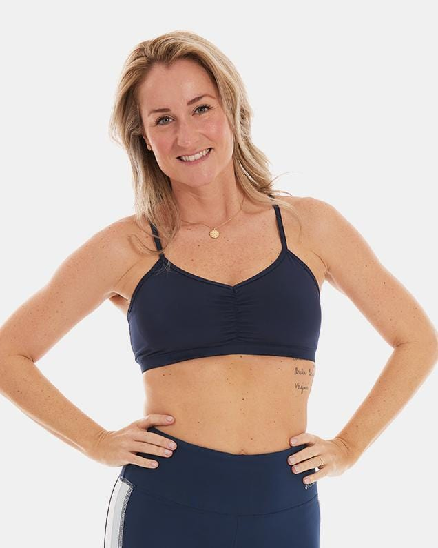 Adjustable Sports Bra – Night Swim Navy