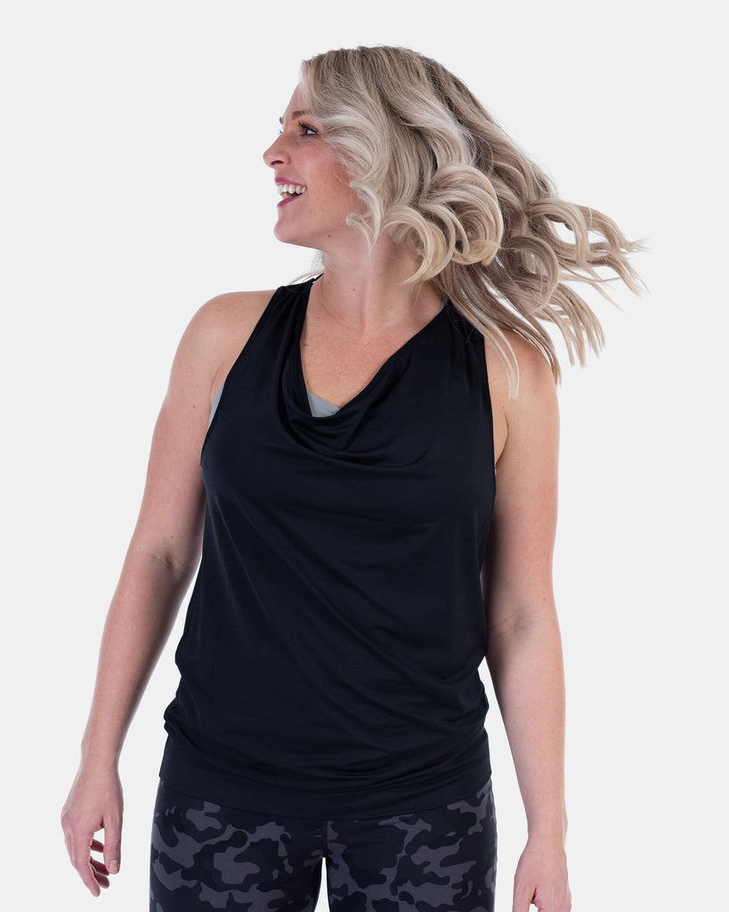 Flippin' Awesome Scoop Tank – Booya Black