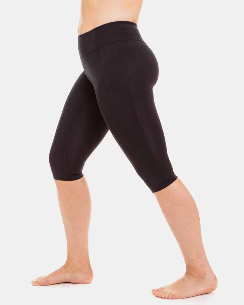 Wi-Thi Recycled Poly Pocketed Crop – Booya Black