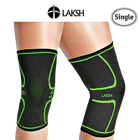187ff0e6e8 ... LAKSH™ Knee Brace Compression Sleeve Support for Joint Pain Relief from  Arthritis, ACL, ...