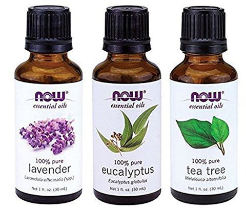 3-Variety Pack Essential Oils: Tea Tree oil, Eucalyptus oil, Lavender oil - 1 oz Each, Brandlet, Essential Oils, Brandlet