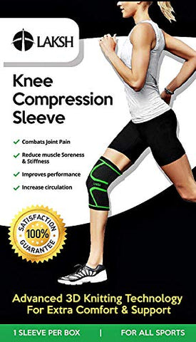 c477ab3cb0 ... LAKSH™ Knee Brace Compression Sleeve Support for Joint Pain Relief from  Arthritis, ACL,