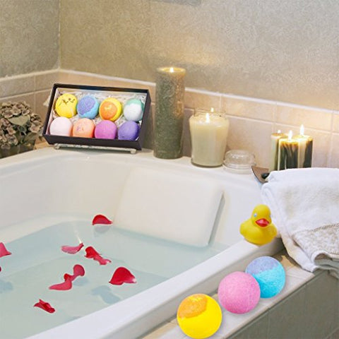 Bath Bombs Gift Set Lush With Natural Essential Oils Rich Bubbles