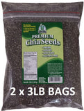 Get Chia Vegan Gluten-Free Chia Seeds, 3 Pounds (Pack of 2), Brandlet, Herbs & Spices, Brandlet