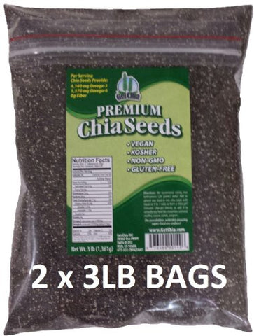 Get Chia Vegan Gluten-Free Chia Seeds, 3 Pounds (Pack of 2)