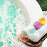 Bath Bombs Gift Set, Lush with Natural Essential Oils, Rich Bubbles and Aromatic Scents - Pack of 8
