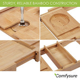 Bathtub Caddy Wood Tray - Expandable Fits Any Size Bath Tub - Perfect Wedding Gift, Brandlet, Bathtub Caddy, Brandlet