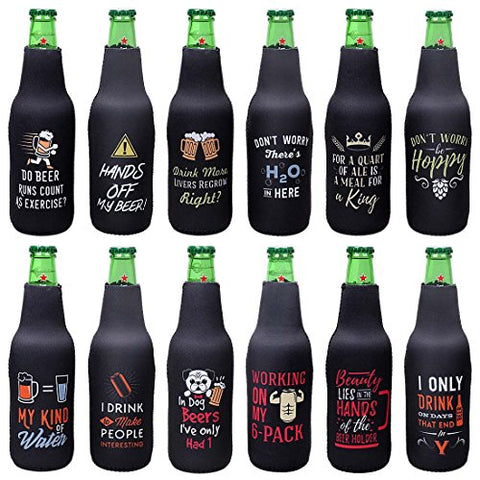 Funny Quotes Beer Bottle Insulated Sleeve Covers Neoprene Sleeves 12-Pack