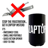Zaptop Automatic Beer Bottle Opener - Opens Bottles Fast with Magnetic Cap Catcher, Zaptop, Bottle Opener, Brandlet