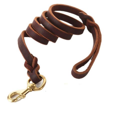 Braided Leather Dog Leash 6FT For Walks and Training - Brown, Brandlet, Dog Leash, Brandlet