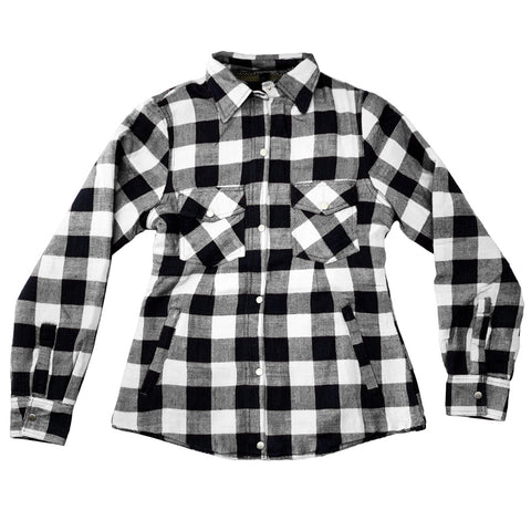 White Buffalo Protective Motorcycle Flannel