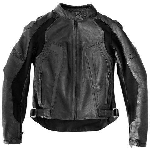 Women's Black Silhouette Leather Moto Jacket