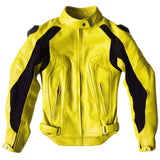 Women's Custom Yellow Leather Motorcycle Jacket