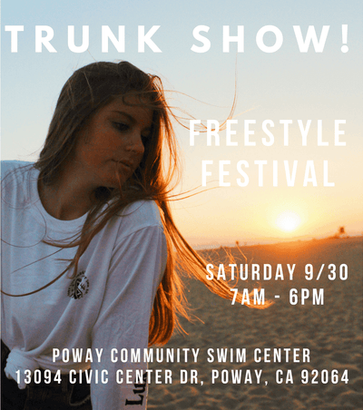 Trunk Show at the Freestyle Festival in Poway, CA this Saturday 9/30!